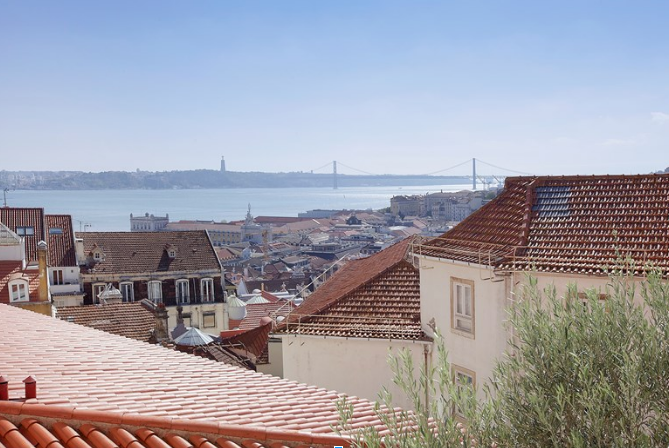 View from our Sweet Inn apartment in Lisbon