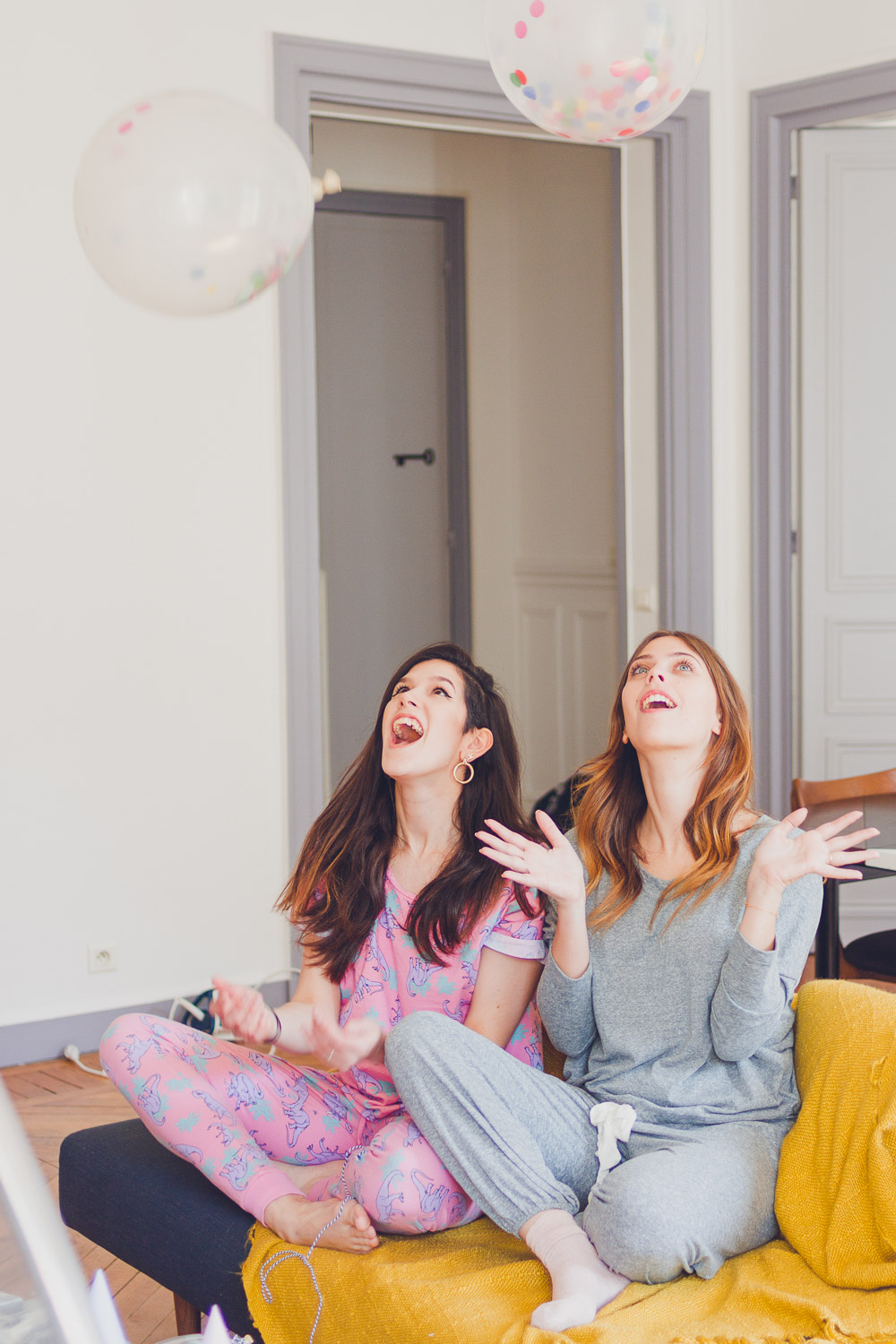 Girls pyjama party in their Sweet Inn Parisian apartment Ponthieu I